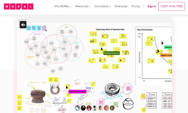 online brainstorm tool mural